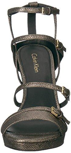 Calvin Klein Women's Shantell Heeled Sandal Gold mpDFyuO