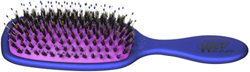 (J&D Beauty Wet Brush, Pro Shine Enhancer Detangle Brush, Blue)