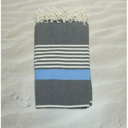 Miami azul – 100% algodón – toalla de baño, 100 cm x 200 cm
