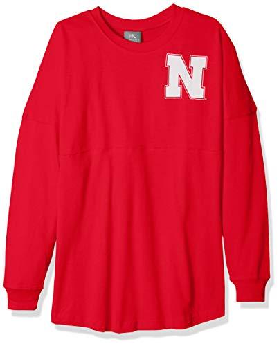 NCAA Nebraska Cornhuskers Womens NCAA Women's Long Sleeve Mascot Style Teeknights Apparel NCAA Women's Long Sleeve Mascot Style Tee, Athletic Red, Medium