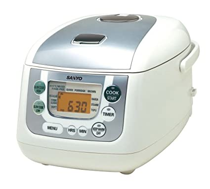 amazon com sanyo ecj hc55s 5 1 2 cup uncooked micro computerized rh amazon com Tiger Rice Cooker Manual Walmart Rice Cooker