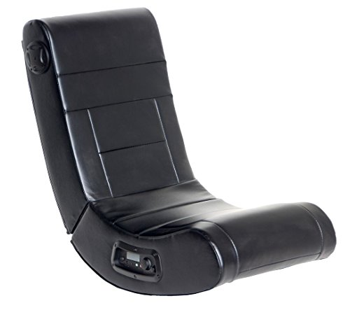 Player One Floor Rocker Gaming Chair with Built-in 2.1 Bluetooth Audio System