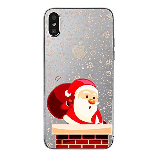 39s Apple - Ewewesse iPhone X Case, Shockproof Anti Scratch Cute 3D Merry Christmas Pattern TPU Phone Shell Compatible with iPhone X, Lovely for Girls Women Ladies