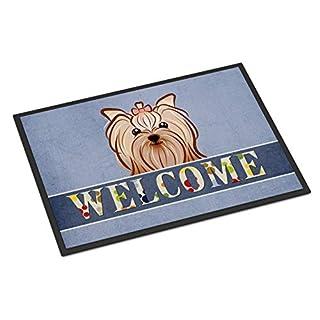 Caroline's Treasures BB1390JMAT Yorkie Yorkishire Terrier Welcome Indoor or Outdoor Mat 24x36, 24H X 36W, Multicolor