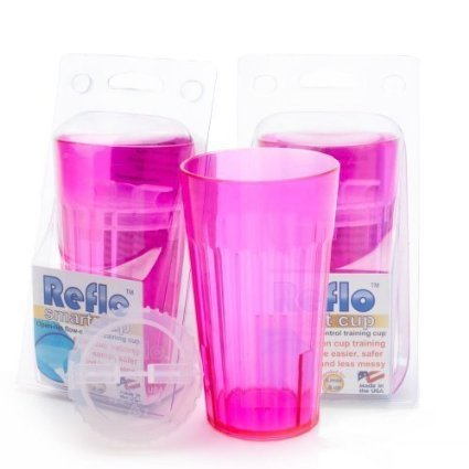 "Reflo Smart Cup, a Smart Alternative to ""Sippy Cups"" (Red Violet - 2 Pack)"
