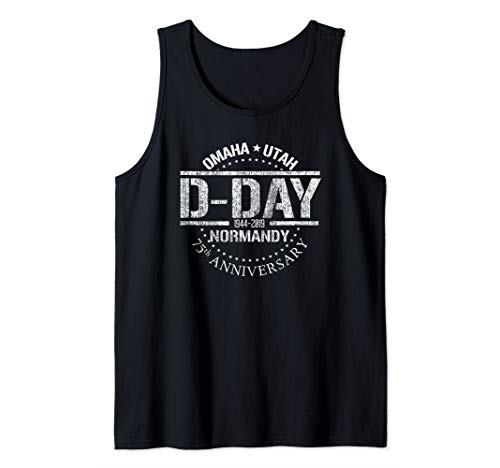 D-day Tank - WW2 D-Day 75th Anniversary 1944-2019 Omaha Utah Beach Tank Top