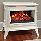 Comfort Smart Jackson Infrared Electric Fireplace Stove Heater, Cream- CS-25IR-CRM