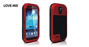 Waterproof Metal LOVE MEI Case Shockproof Rugged Gorilla For Samsung Galaxy S4 Red