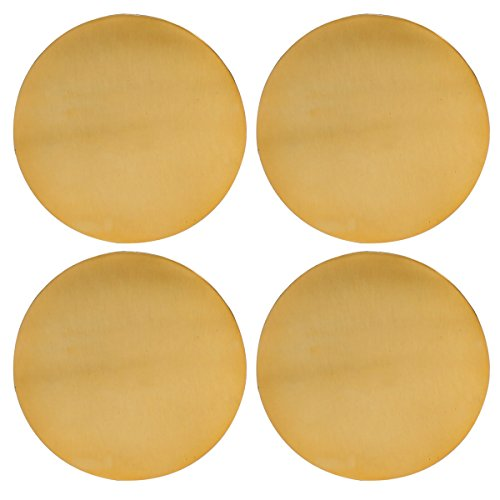 Thirstystone NCH032 Gold Finish Old Hollywood Round Metal Coasters (Set of 4), Multicolor ()