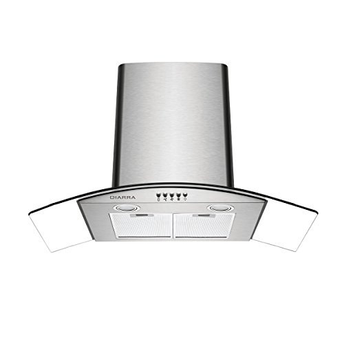 CIARRA Canopy Cooker Hood 90cm 550m³/h Kitchen Extractor Fan Grease Filter LED...