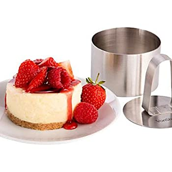 HJLHYL 3Mousse Tool Set of Round Mousse Ring with Push Handle Cheese Cake