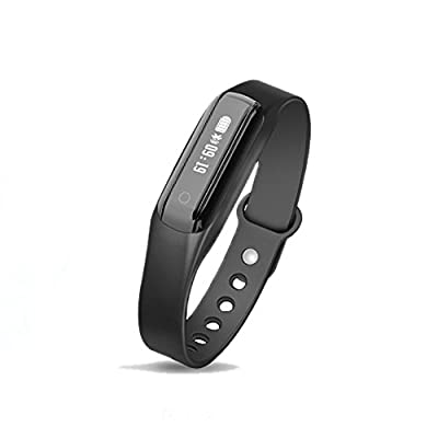 Fitness Tracker Foruchoice Smart Bracelet with Heart Rate Monitoring and Pedometer Call SMS Reminder IP65 Waterproof
