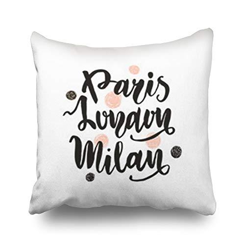 iDecorDesign Throw Pillow Covers Design Paris Milan