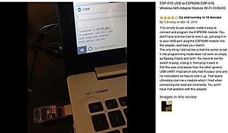 2 adaptadores USB a ESP-01, módulo WiFi inalámbrico ESP8266 Wi-Fi ...