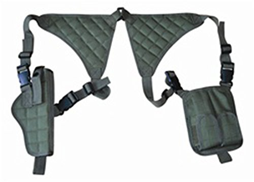 Ultimate Arms Gear OD Green Camouflage Universal Vertical Ambidextrous High Quality Shoulder Holster, Fits Sig Sauer Pistols
