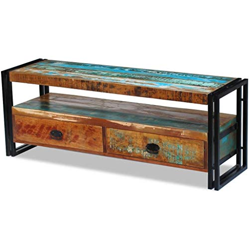Furniture Entertainment Centers & TV Stands TV Cabinet Solid Reclaimed Wood