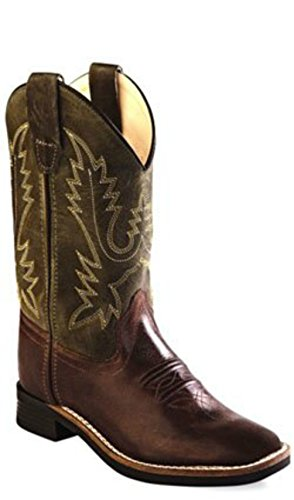 Old West Jama Boots - Kid's Brown Square Toe (11)