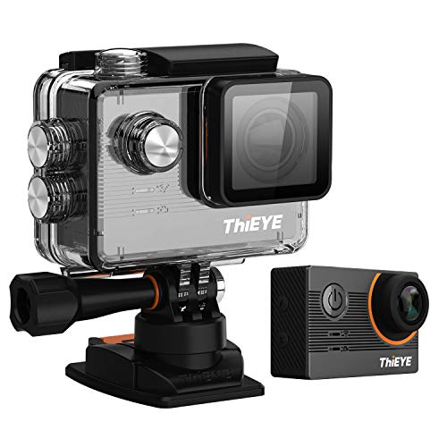 ThiEYE Action Camera 20MP 4K WiFi Underwater 60M Waterproof Sports Cam 170° Wide Angle Lens with with EIS, Aqua Mode& Fish-Eye Correction, and Mounting Accessories Kits(E7)