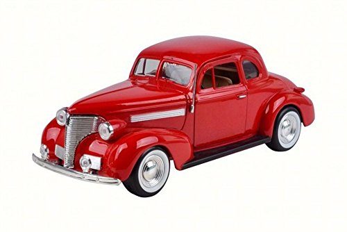 Motor Max 1939 Chevy Coupe, Red 73247W - 1/24 Scale Diecast Model Toy Car ()