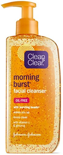 Clean & Clear Morning Burst Facial Cleanser For Skin Care Routines, 8 Fl. Oz. (Pack of 3)