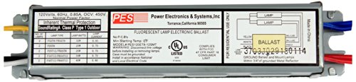 PES 2 Lamps Fluorescent Electronic Ballast, 120V, # PES120ET8-12SMT by Power Electronics & Systems
