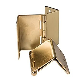 HealthSmart Expandable Door Hinges, One Pair, Brass
