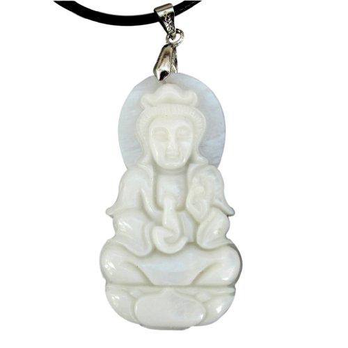 Shell Tibetan Buddhist Mercy Kwan-yin Buddha Amulet Pendant (Yin Pendant)