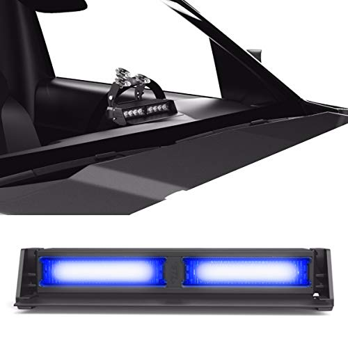 2 Light Dash - Striker TIR 2 Head LED Dash Light for Emergency Vehicles/Warning Strobe Deck/Dash Light Windshield Mount - Blue/Blue