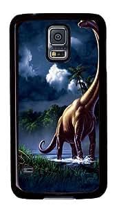 Samsung Galaxy S5 Case and Cover -Brachiosaurus Dinosaur Custom PC Hard Case Cover for Samsung S5/Samsung Galaxy S5 Black