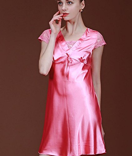 LJ&L Ladies pajamas spring and summer home clothing imitation silk women pajamas night skirt / bath
