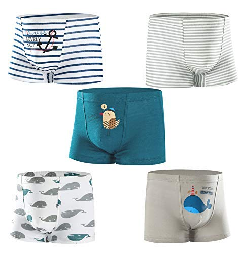 HLMBB Cotton Underwear Panties Briefs for Toddler Boys Boy Toddlers 2T 3T 4T 5T Underwear Size Cotton Training Clothes Panty Kids 2 3 4 5 6 7 8 9 10 Years Old ()