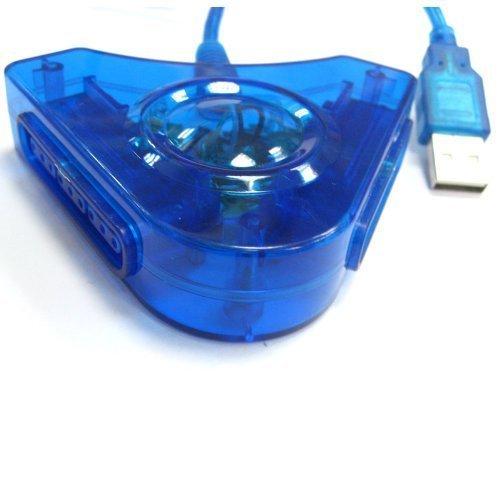 QUMOX Convertidor de Adaptador control de JUEGO USB DE 2 Puertos PS2 a PS3