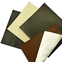 YAMU Sheep Black Leather Repair Patch & Vinyl Adhesive for Sofas Car Seats Handbags Jackets Black