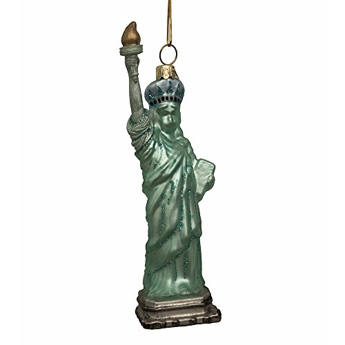 Kurt Adler Noble Gems Glass Statue of Liberty Ornament, 5.5-Inch ()