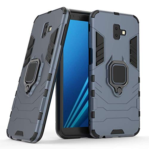 DWAYBOX Galaxy J6 Plus Case Ring Holder Iron Man Design 2 in 1 Hybrid Heavy Duty Armor Hard Back Case Cover for Samsung Galaxy J6 Plus/J6 Prime 2018 6.0 Inch (Dark Blue)
