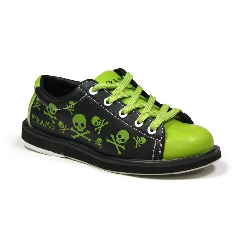 Pyramid Youth Skull Green/Black - Size 2 (Youth) (Bowling Shoes 2)