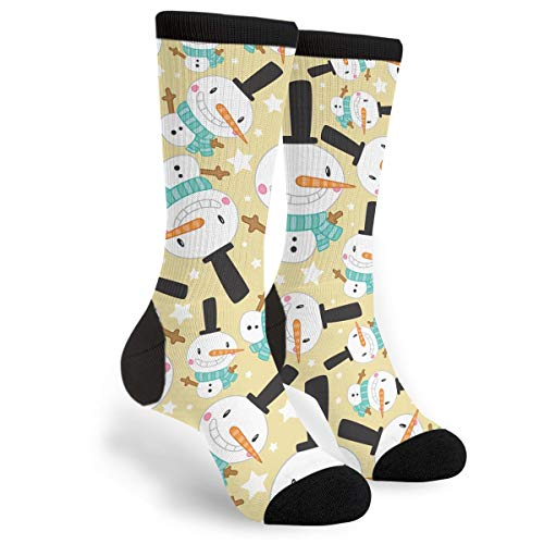 Kavai Christmas Snowman Printed Unisex Comfortable Crew Socks Athletic Casual Sock