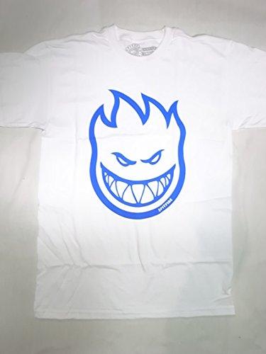 Spitfire Skateboard Wheels Bighead T-Shirt - White/Royal (Medium)