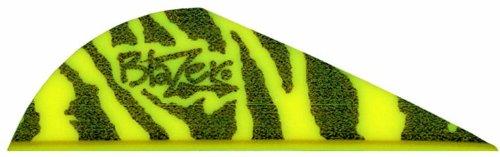 Bohning Blazer Vane (Pack of 36), Yellow Tiger (Yellow Neon Vanes Blazer)