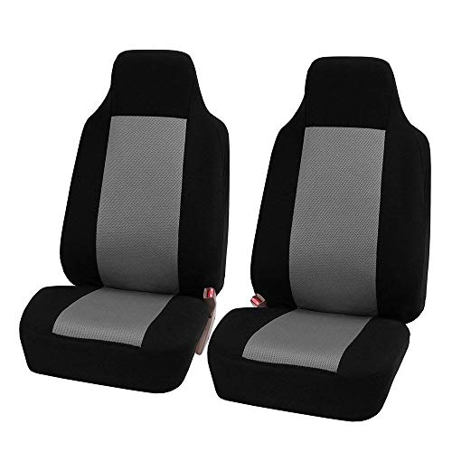 MAXTUF Seat Cover, 2Pcs Universal Front Seat Protector with 3mm Breathable Sponge Inside and Compatible Airbag Bucket Seat Cover, Fit for Vehicle Truck SUVs Sedans Van ()