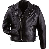 Xelement B7210 'Cool Rider' Men's Black Vented Leather...