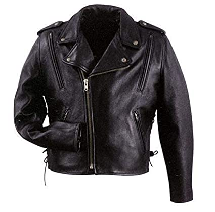 7e1f1b4cbe5 Amazon.com  Xelement B7210  Cool Rider  Men s Black Vented Leather  Motorcycle Jacket - Black   Large  Automotive