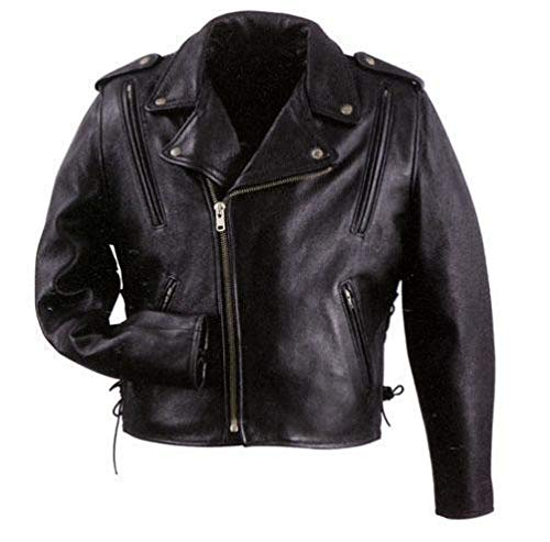Xelement B7210 'Cool Rider' Men's Black Vented Leather Motorcycle Jacket - ()