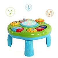 Musikalische Aktivität Tisch Baby Spielzeug - Hanmun 2018 New Design BN16014 Lachen & Spaß Elektronische pädagogische Kleinkinder Spielzeug für 6 Monate + Baby Kinder Kinder Grüne Farbe Weihnachtsges(Grün)