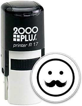 Mustache Smiley Emoji Self Inking Stamp