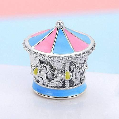EverReena Beads Lovely Merry-Go-Round Carousel Charm Gift for Silver Bracelets