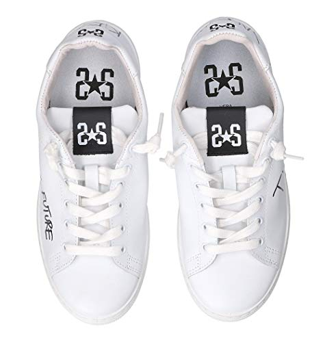 Donna Pelle Sneakers 2sd2040 Bianco 2star 51vxSTTw