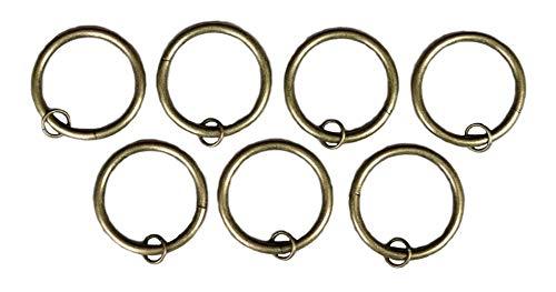 (Urbanest Set of 16 Metal Curtain Eyelet Rings 3 Inch Inner Diameter (Antique Brass) )