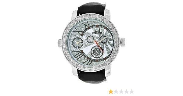 Amazon.com: New Mens Ice Mania All White 12 Diamond Watch IM2022: Ice Mania: Watches
