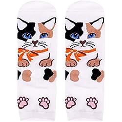 Voberry Women's Cartoon Animal Cat Socks Funny Casual Cute Crew Socks